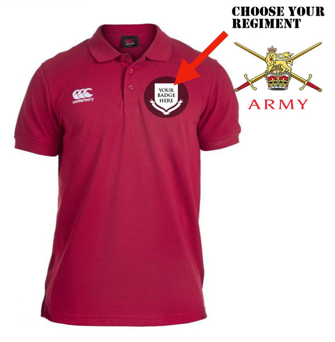 Polo Shirt (Canterbury) - British Army Units Canterbury Pique Polo Shirt