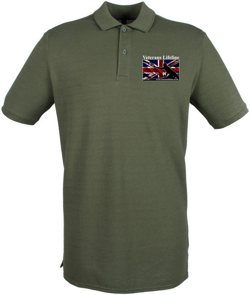 Polo Shirt (Cotton) - Veterans Lifeline Embroidered Pique Polo Shirt