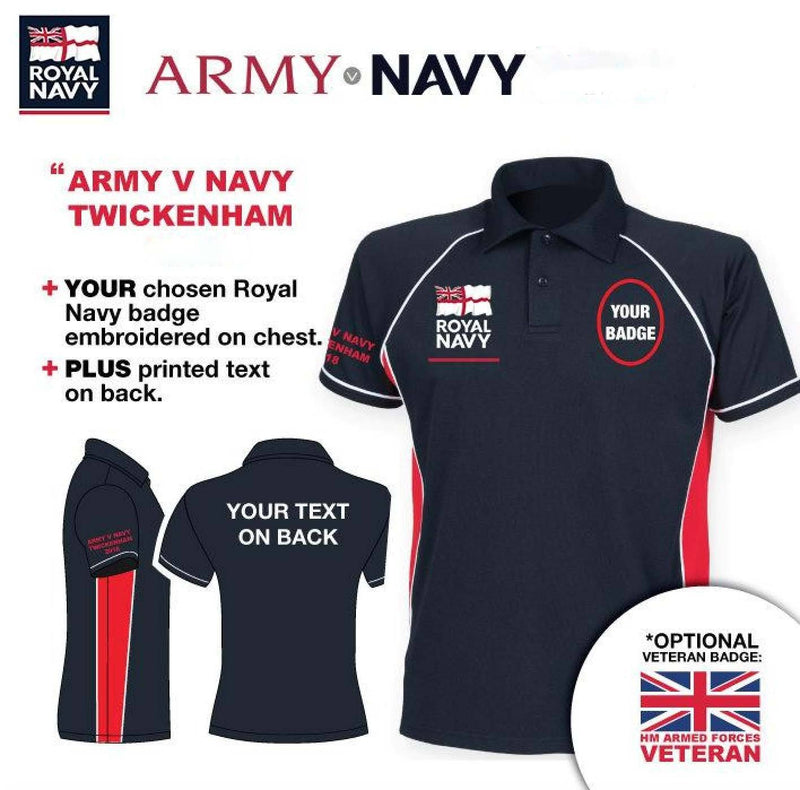 Polo Shirt (Performance) - Army V Navy 2019 Royal Navy Units Men's Performance Polo Shirt