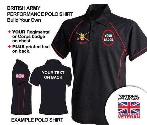 Polo Shirt (Performance) - British Army UNITS 'Build Your Own' Unisex Polo Shirt