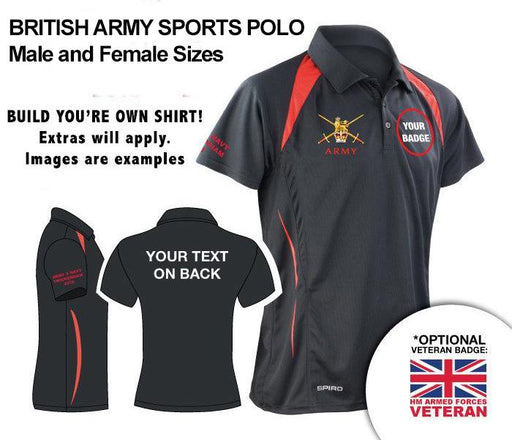 Polo Shirt (Performance) - British Army UNITS Unisex Sports Performance Polo Shirt