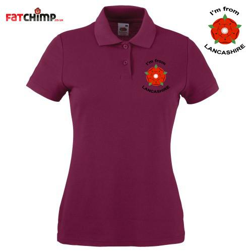 Polo Shirts - I'm From Lancashire Ladies Embroidered Polo Shirt