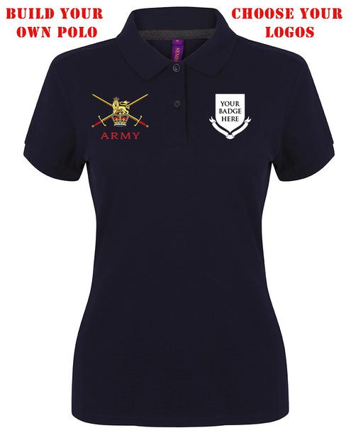 Polo Shirts - Ladies Regimental Modern Fit Cotton Piqué Polo Shirt