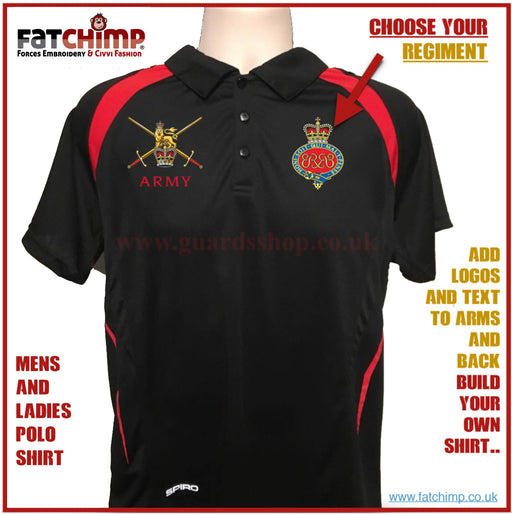"Polo Shirts - Regimental Unisex Team Performance Polo Shirt ""ARMY'"
