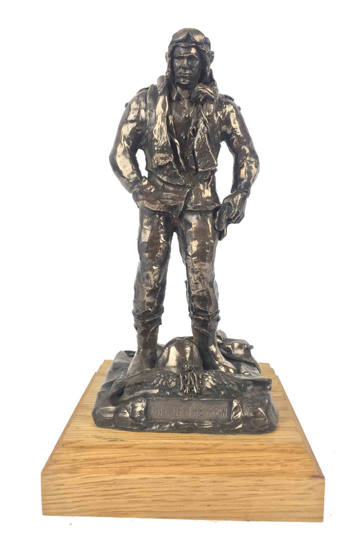 RAF World War 2 Fighter Pilot Bronze Statue