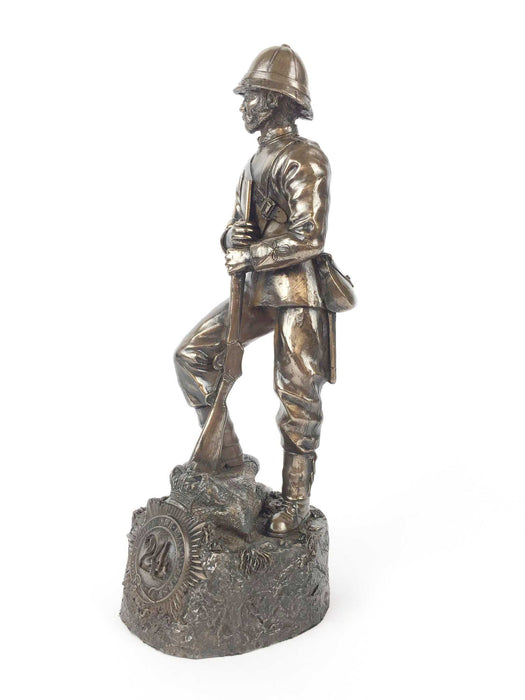 Rorkes Drift Zulu Wars 1879 British Soldier Bronze Statue