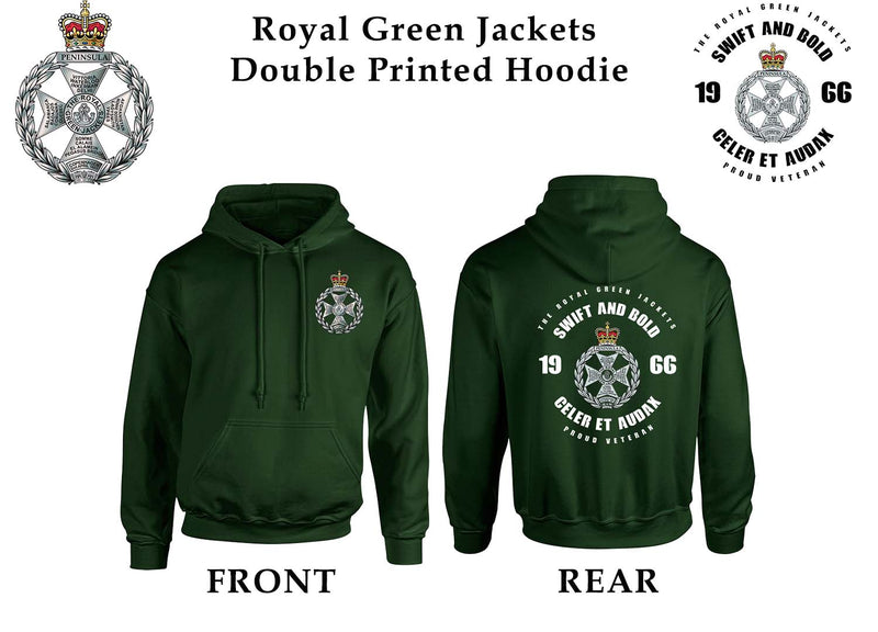 ROYAL GREEN JACKETS DOUBLE SIDE PRINTED HOODIE