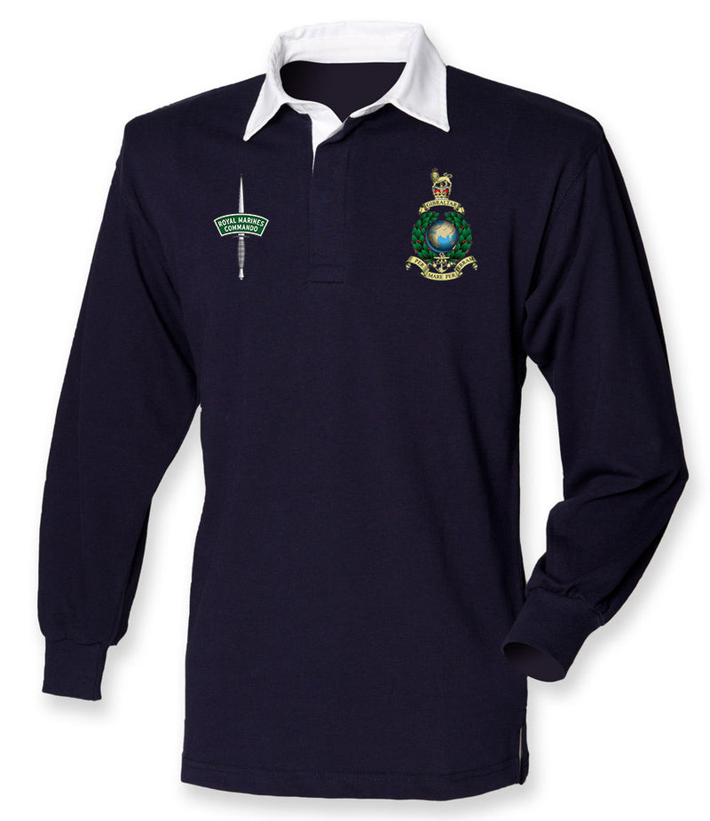 Royal Marines Long Sleeve Men's Rugby Shirt