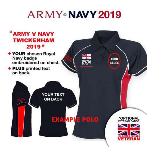 Royal Navy Army v Navy 2019 Ladies Performance Polo