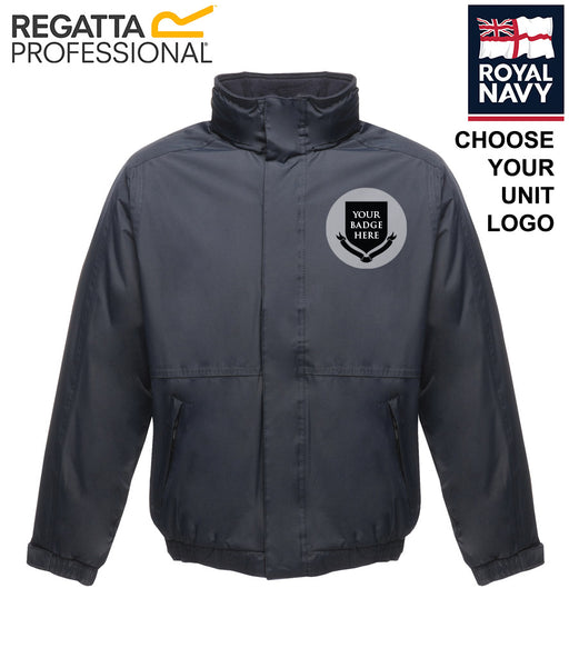 ROYAL NAVY UNITS Embroidered Regatta Waterproof Insulated Jacket