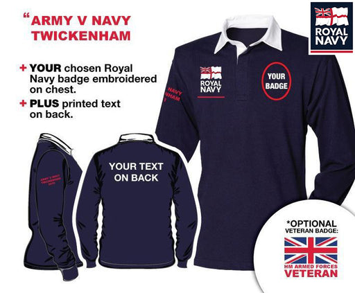 Royal Navy UNITS 'Army V Navy 2020' Long Sleeve Rugby Shirt