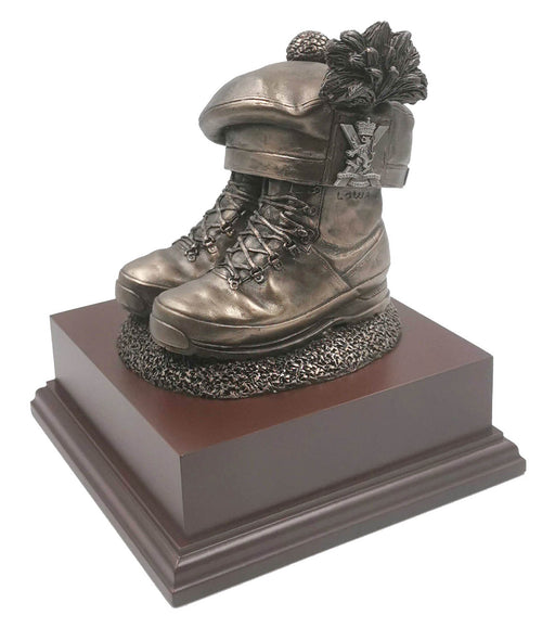 Boots and Beret with Tam O'Shanter RRS Cold Cast Bronze Statue