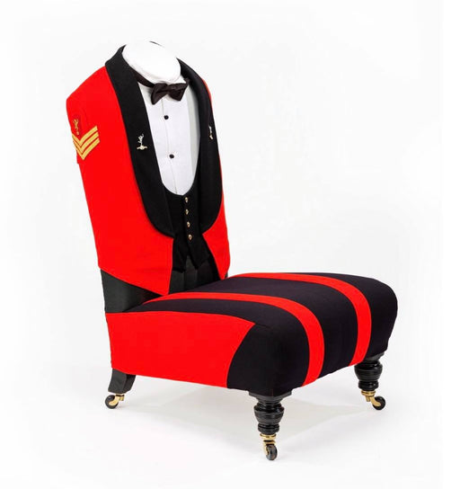The ROYAL CORPS of SIGNALS Sergeants Mess Dress Chair