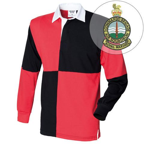 Rugby Shirts - 3 Commando Brigade Air Squadron Quartered Rugby Shirt