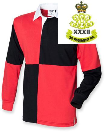 Rugby Shirts - 32nd Regiment Royal Artillery Quartered Rugby Shirt