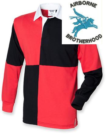Rugby Shirts - Airborne Brotherhood Quartered Rugby Shirt