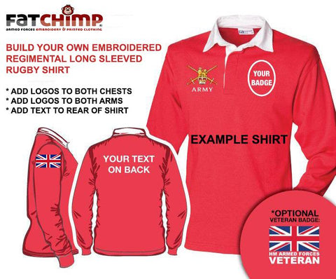 Rugby Shirts - British Regiments Long Sleeve Rugby Shirt - Build Your Own Shirt