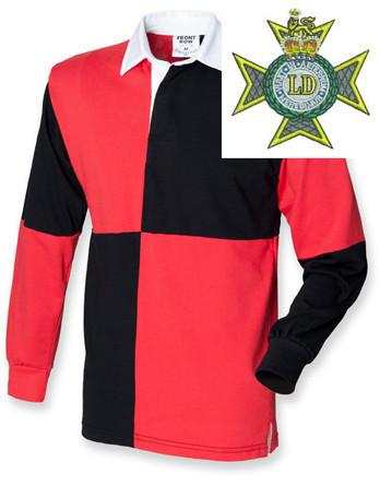 Rugby Shirts - Light Dragoons Quartered Rugby Shirt