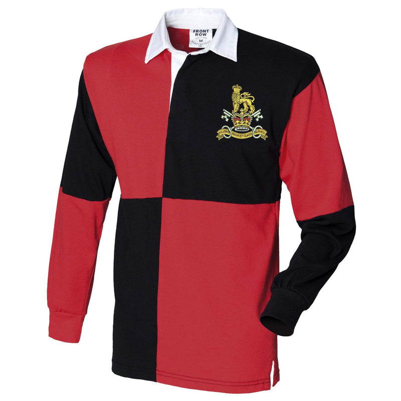 Rugby Shirts - Military Provost Guard Service Embroidered Quartered Rugby Shirt