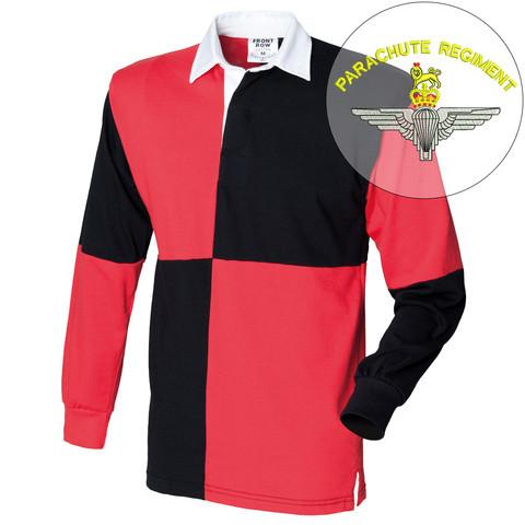 Rugby Shirts - Parachute Regiment Quartered Rugby Shirt