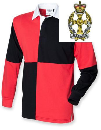 Rugby Shirts - Queen Alexandra's Royal Army Nursing Corps Quartered Rugby Shirt