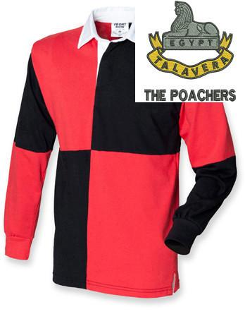 Rugby Shirts - Royal Anglian 2nd Battalion 'The Poachers' Quartered Rugby Shirt