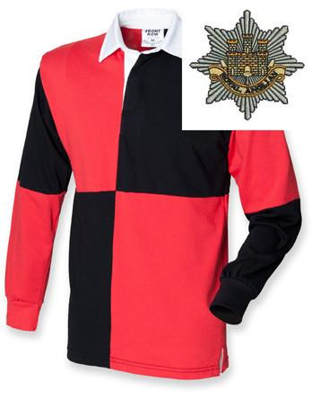 Rugby Shirts - Royal Anglian Regiment Quartered Rugby Shirt