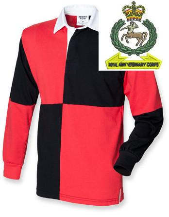 Rugby Shirts - Royal Army Veterinary Corps Quartered Rugby Shirt