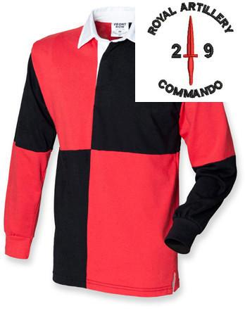 Rugby Shirts - Royal Artillery 29 Commando Quartered Rugby Shirt