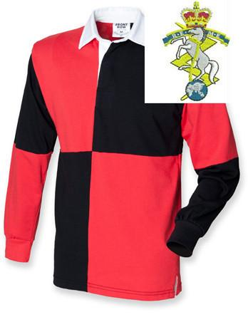 Rugby Shirts - Royal Electrical And Mechanical Engineers Quartered Rugby Shirt