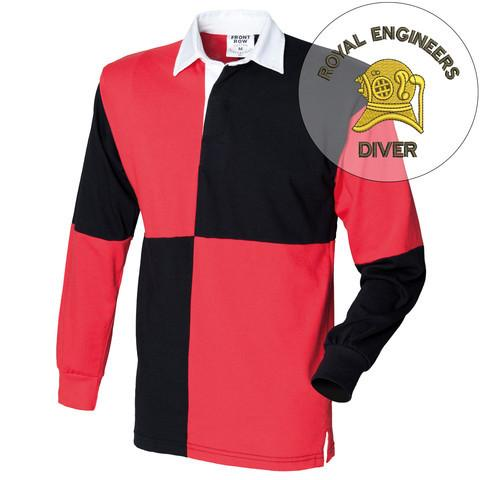 Rugby Shirts - Royal Engineers Diver Quartered Rugby Shirt