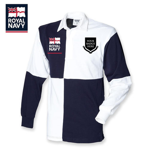 Rugby Shirts - ROYAL NAVY UNITS - Quartered Rugby Shirt