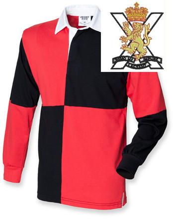 Rugby Shirts - Royal Regiment Of Scotland Quartered Rugby Shirt