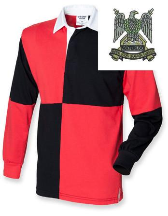 Rugby Shirts - Royal Scots Dragoon Guards Quartered Rugby Shirt
