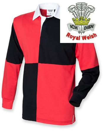 Rugby Shirts - Royal Welsh Quartered Rugby Shirt