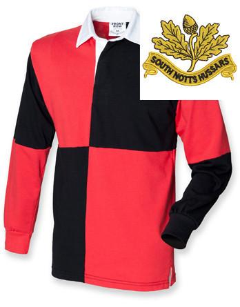 Rugby Shirts - South Nottinghamshire Hussars Quartered Rugby Shirt