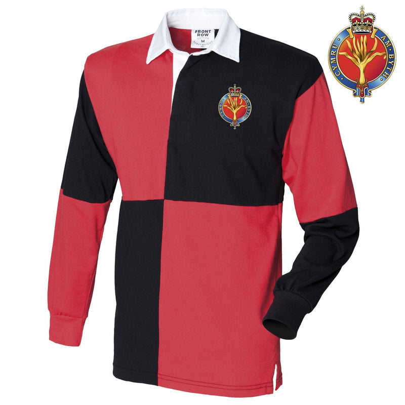Rugby Shirts - Welsh Guards Quartered Rugby Shirt