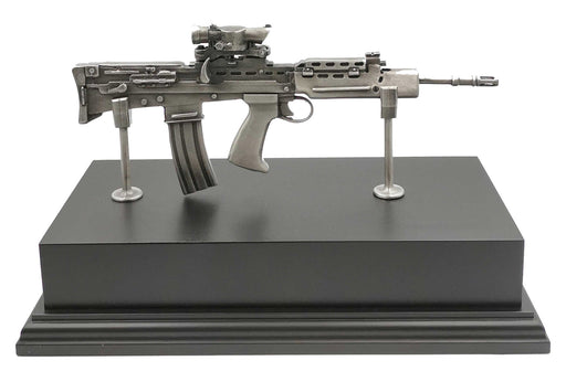 SA80 British Army Rifle Pewter Statue