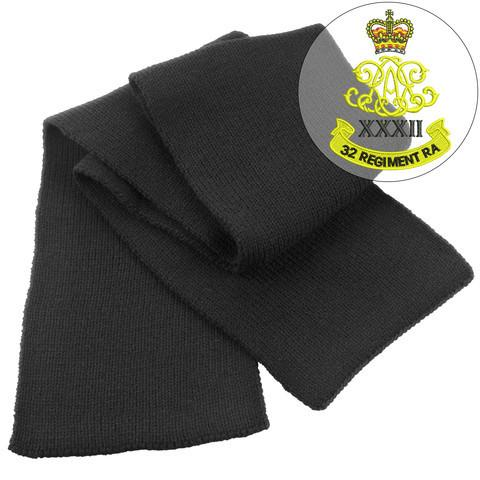 Scarf - 32nd Regiment Royal Artillery Heavy Knit Scarf