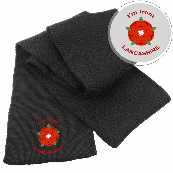 Scarf - I'm From Lancashire Heavy Knit Scarf