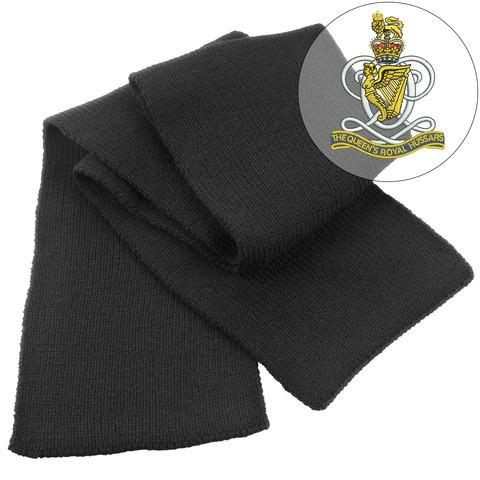 Scarf - Queens Royal Hussars Heavy Knit Scarf