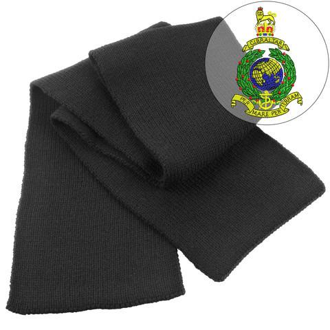 Scarf - Royal Marines Embroidered Heavy Knit Scarf