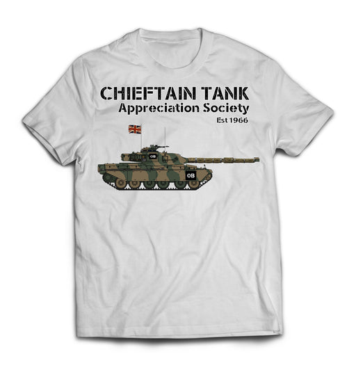 T-Shirt - CHIEFTAIN TANK APPRECIATION SOCIETY Printed T-Shirt