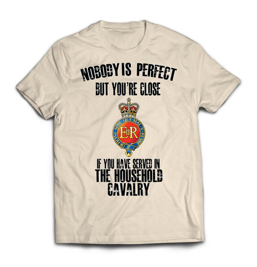 T-Shirt - Household Cavalry 'Nobody Is Perfect' Printed T-Shirt