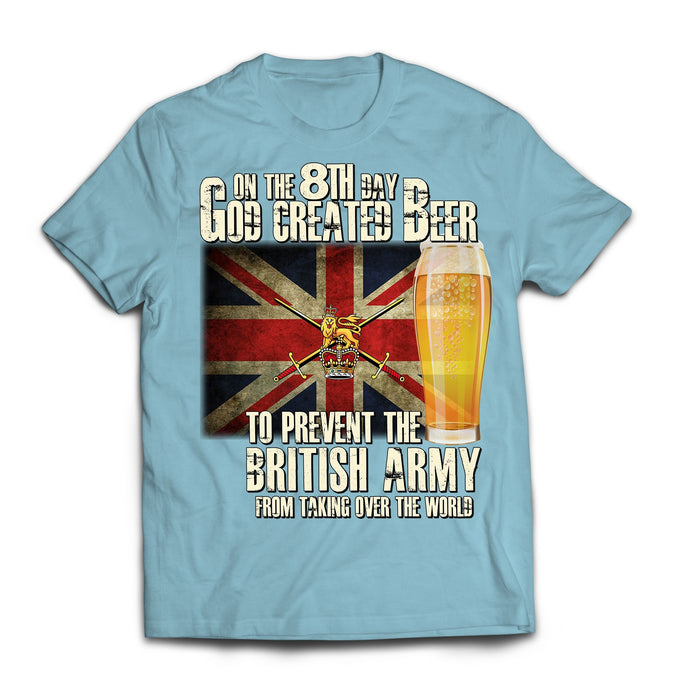 T-Shirt - On The 8th Day British Army Printed T-Shirt
