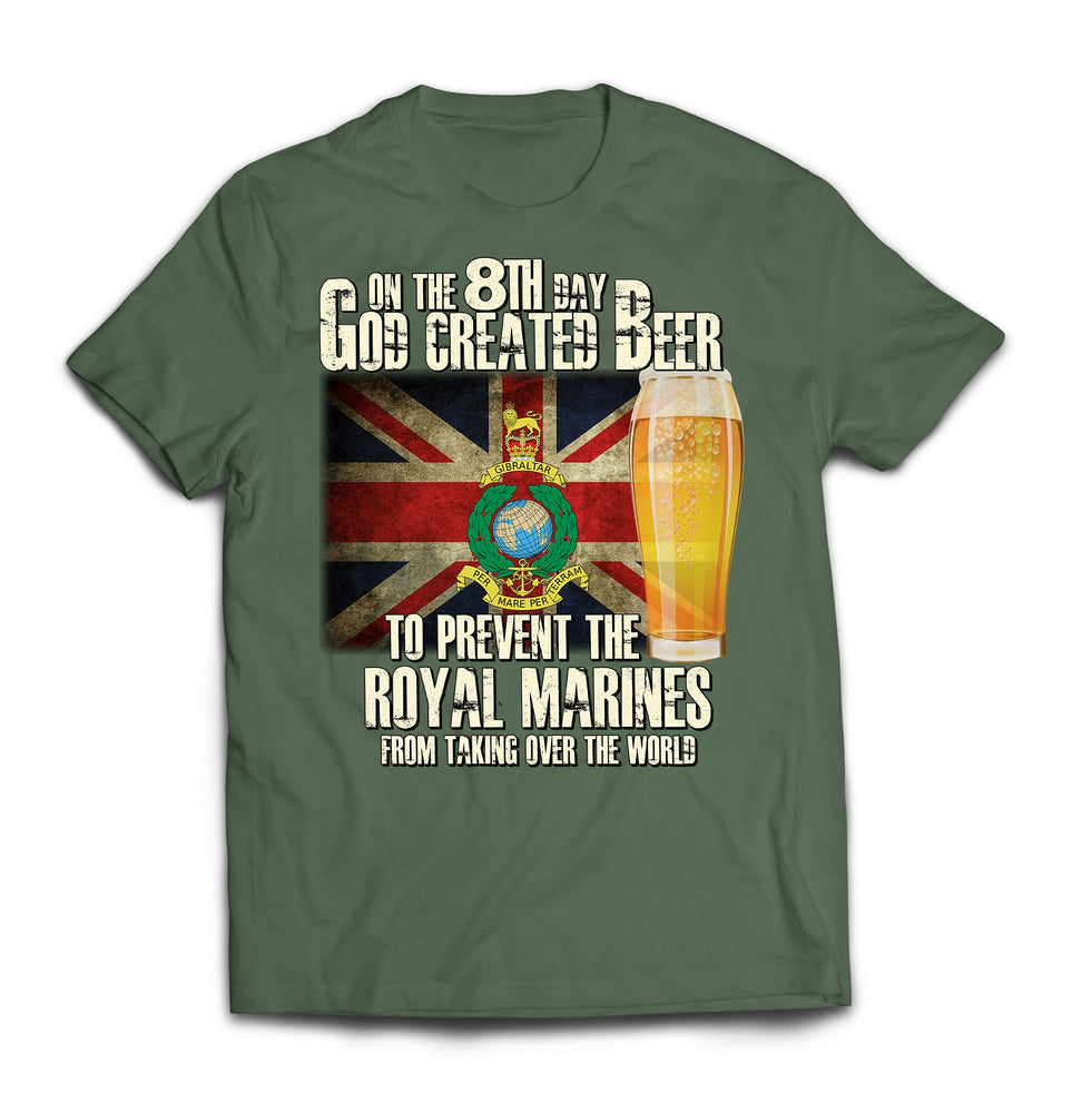 T-Shirt - On The 8th Day Royal Marines Printed T-Shirt