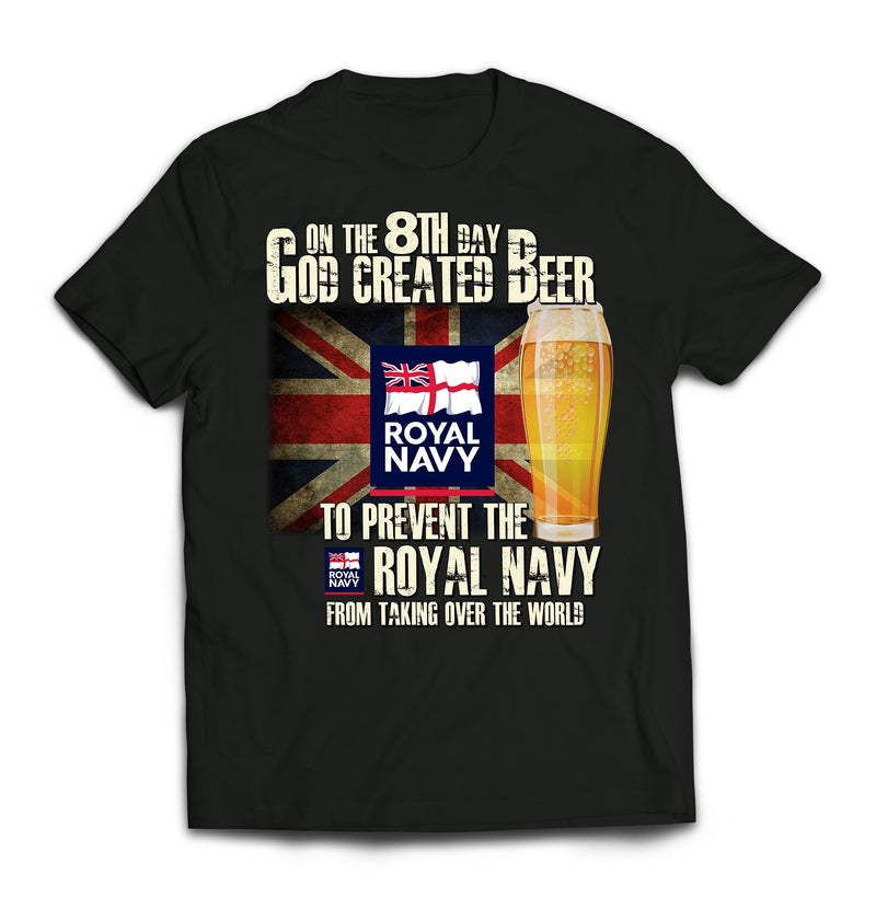T-Shirt - On The 8th Day Royal Navy Printed T-Shirt