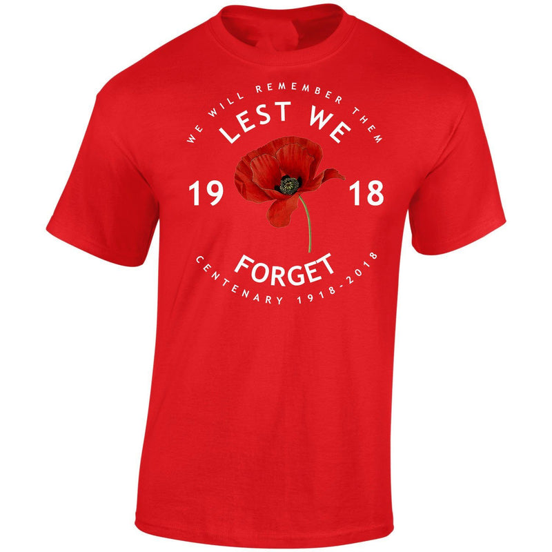 T-Shirt - POPPY LEST WE FORGET CENTENARY PRINTED T-SHIRT