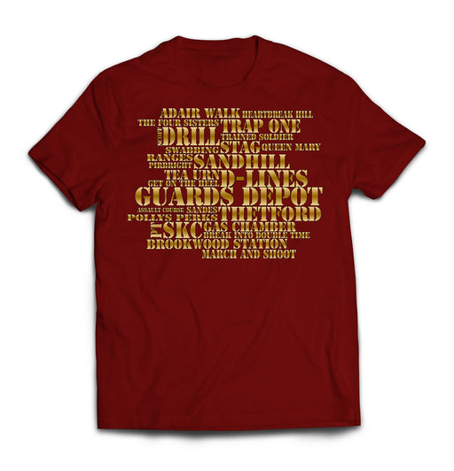T-Shirt - THE GUARDS JARGON MASH-UP Printed T-Shirt