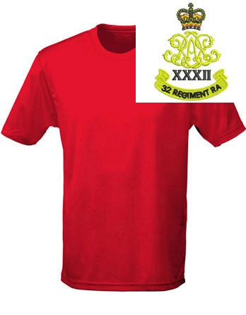 T-Shirts - 32nd Regiment Royal Artillery Sports T-Shirt